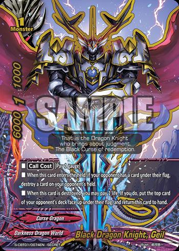 Geil Buddyfight 1x S-CBT01//0074EN Secret-Black Dragon Knight